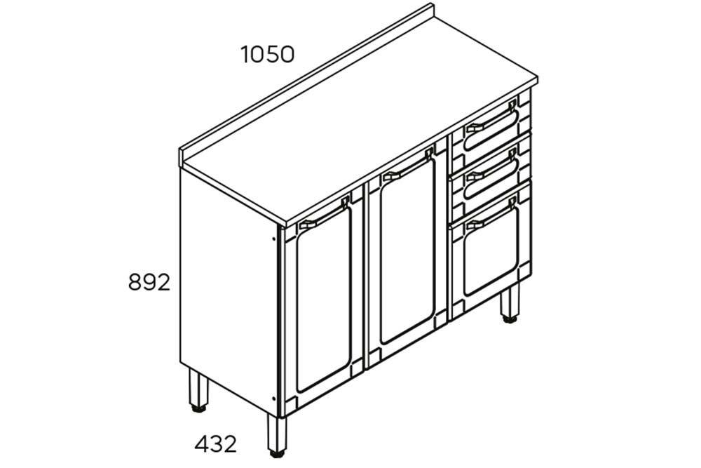 Cozinha Completa Bertolini Colors 4 Peças (1 Paneleiro + 2 Aéreos + 1 Gabinete) Kit CZ179
