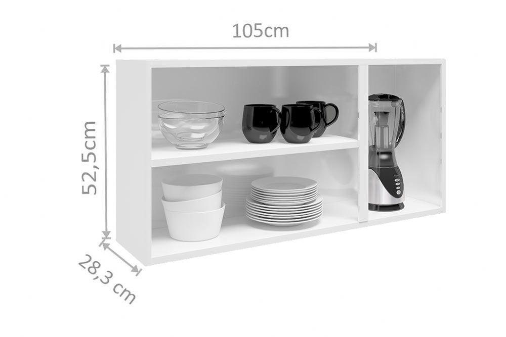 Cozinha Completa Bertolini Múltipla Aço 4 Peças (2 Gabinetes + 2 Armários) Kit CZ116