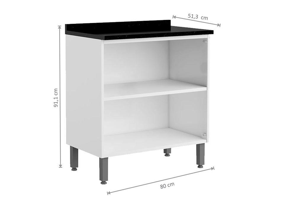 Cozinha Completa Bertolini Evidence Aço 4 Peças (2 Gabinetes + 2 Armários) Kit CZ118