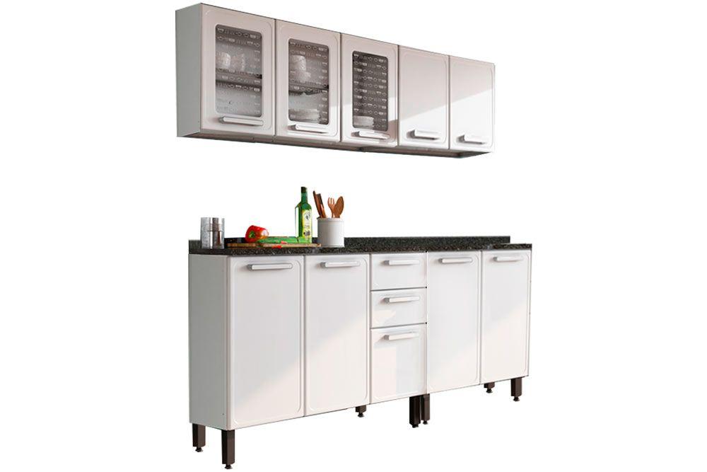 Cozinha Completa Bertolini Gourmet Aço 4 Peças (2 Gabinetes + 2 Armários) Kit CZ119