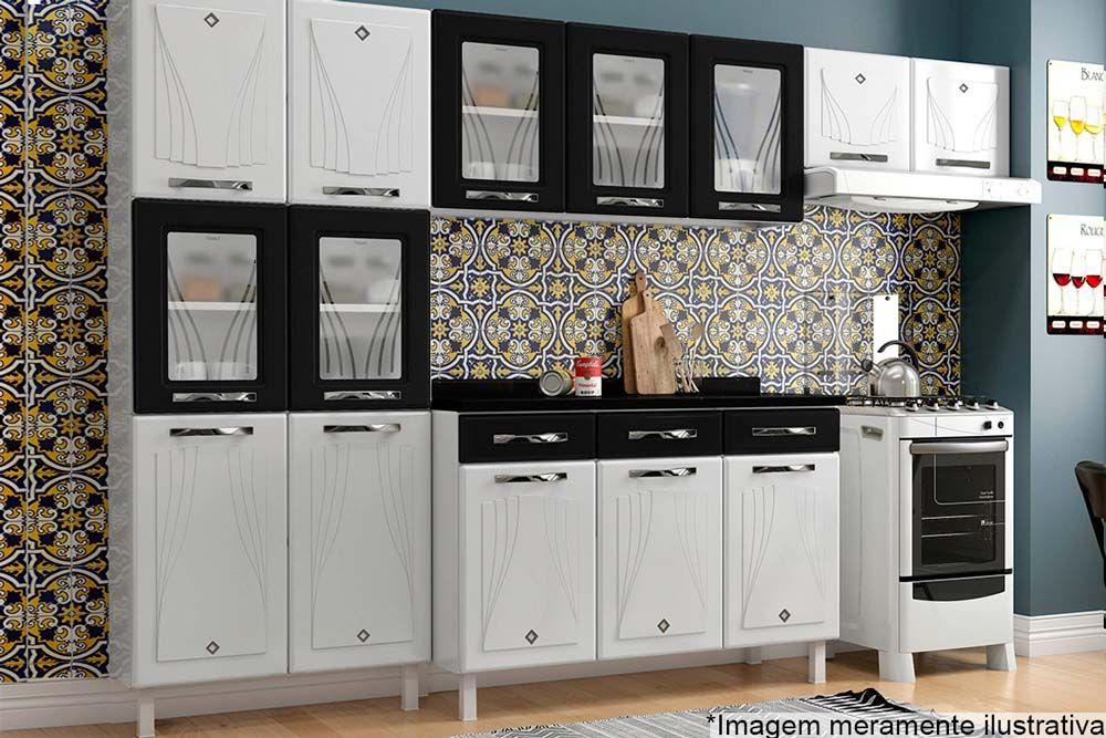 Cozinha Completa Telasul Star New Aço 4 Peças (Paneleiro + Gabinete + 2 Armários) COZ117