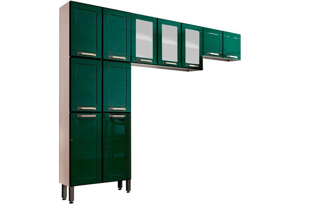 Cozinha Completa Bertolini Colors 3 Peças (1 Paneleiro + 2 Aéreos )