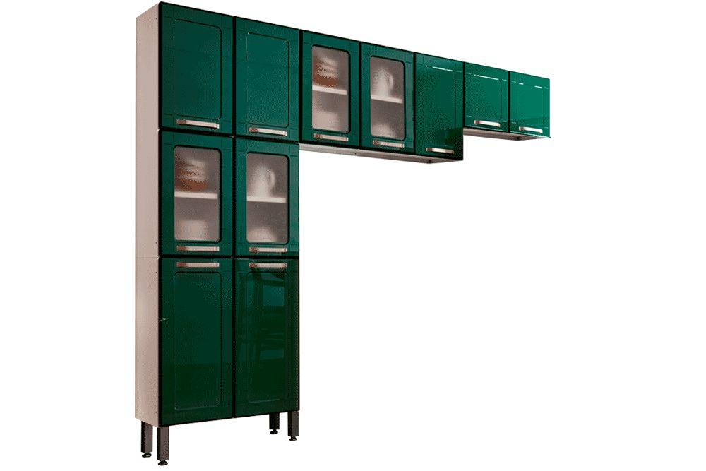 Cozinha Completa Bertolini Colors 3 Peças (1 Paneleiro + 2 Aéreos) Kit CZ185