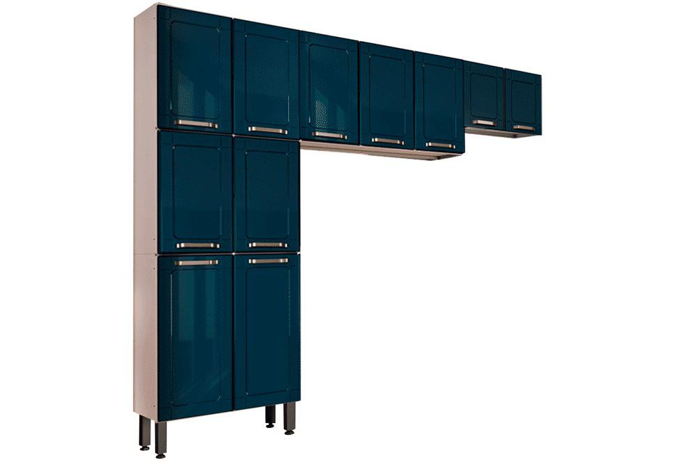 Cozinha Completa Bertolini Colors 3 Peças (1 Paneleiro + 2 Aéreos) Kit CZ184