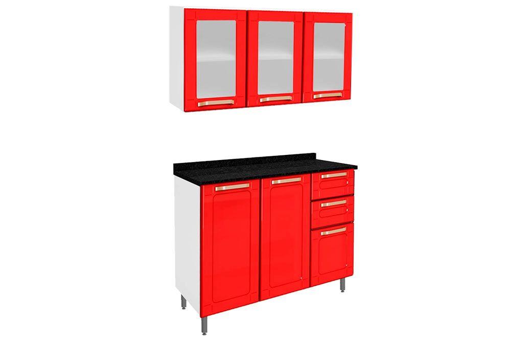 Cozinha Completa Bertolini Colors 2 Peças (1 Aéreo + 1 Gabinete) Kit CZ189