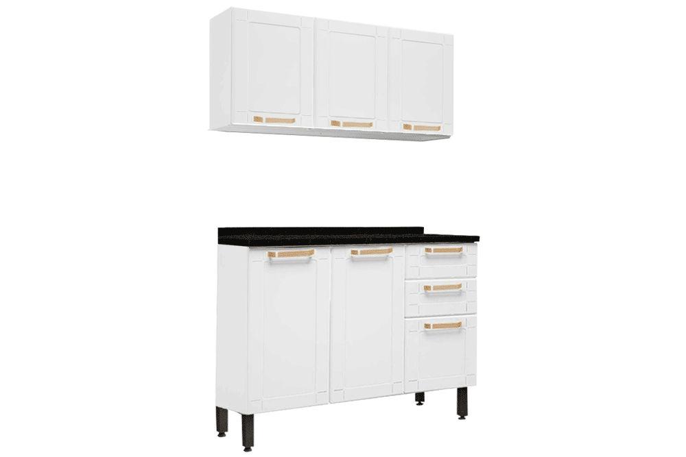 Cozinha Completa Bertolini Colors 2 Peças (1 Aéreo + 1 Gabinete) Kit CZ190