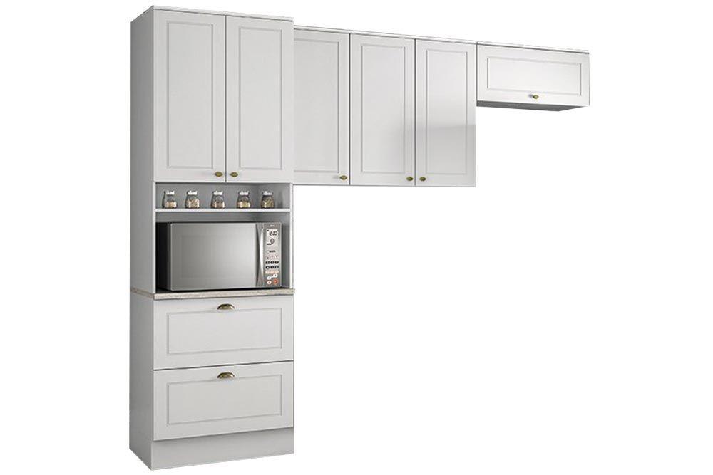 Cozinha Completa Henn Americana 3 Peças (Paneleiro+1 Aéreo 3 portas+1 Aéreo basculante) CZ183