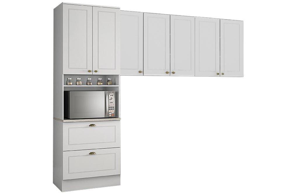 Cozinha Completa Henn Americana 3 Peças (Paneleiro+Aéreo 3 Portas+Aéreo 2 Portas) CZ185
