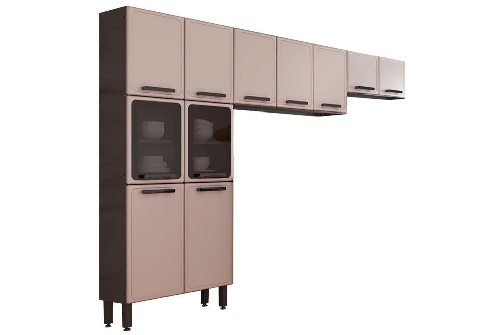 Cozinha Completa Bertolini Estilo 3 Peças (1 Paneleiro + 2 Aéreos) Kit CZ197