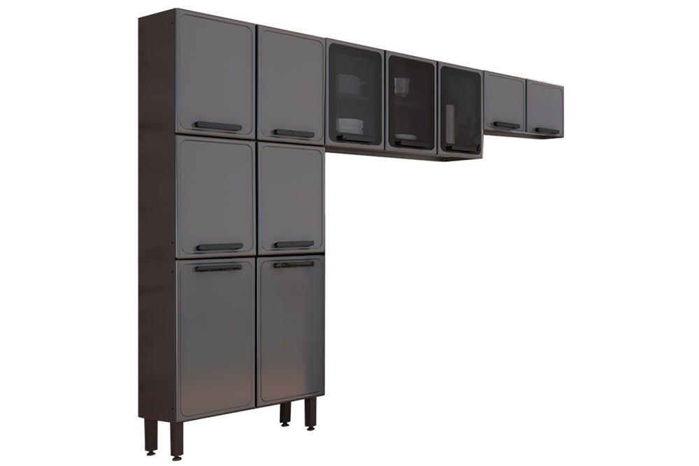 Cozinha Completa Bertolini Estilo 3 Peças (1 Paneleiro + 2 Aéreos) Kit CZ198