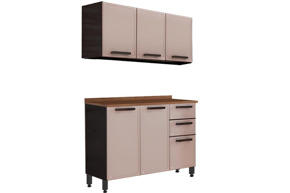 Cozinha Completa Bertolini Estilo 2 Peças (1 Aéreos + 1 Gabinete) Kit CZ179