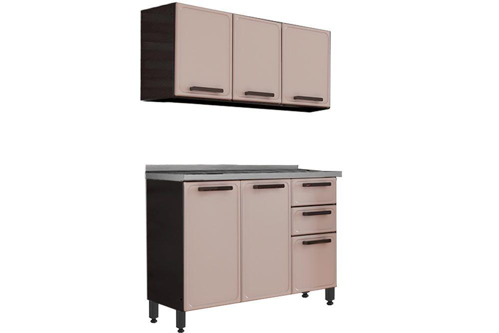 Cozinha Completa Bertolini Estilo c/ Pia 2 Peças (1 Aéreos + 1 Gabinete) Kit CZ177