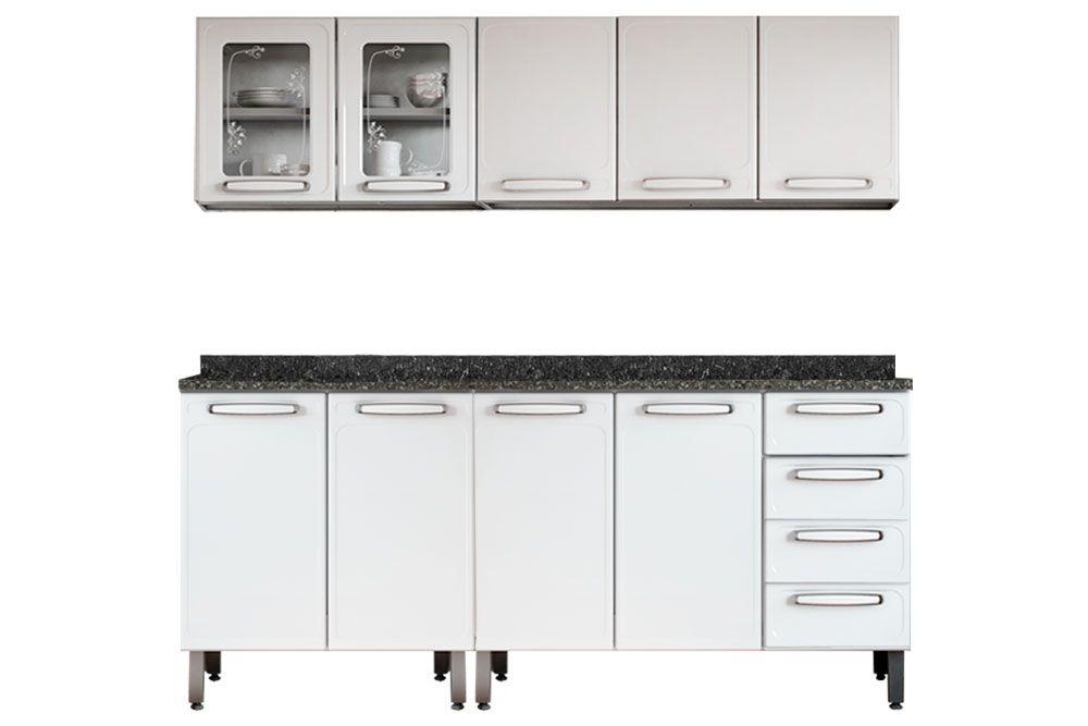 Cozinha Completa Bertolini Evidence Aço 4 Peças (2 Aéreoss + 2 Gabinete) CZ124