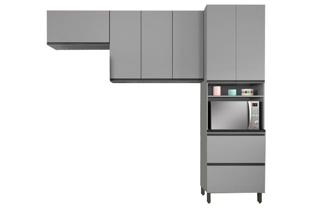 Cozinha Completa Henn Belize 3 Peças (Paneleiro+Aéreo 3 Portas+Aéreo Basculante) CZ197
