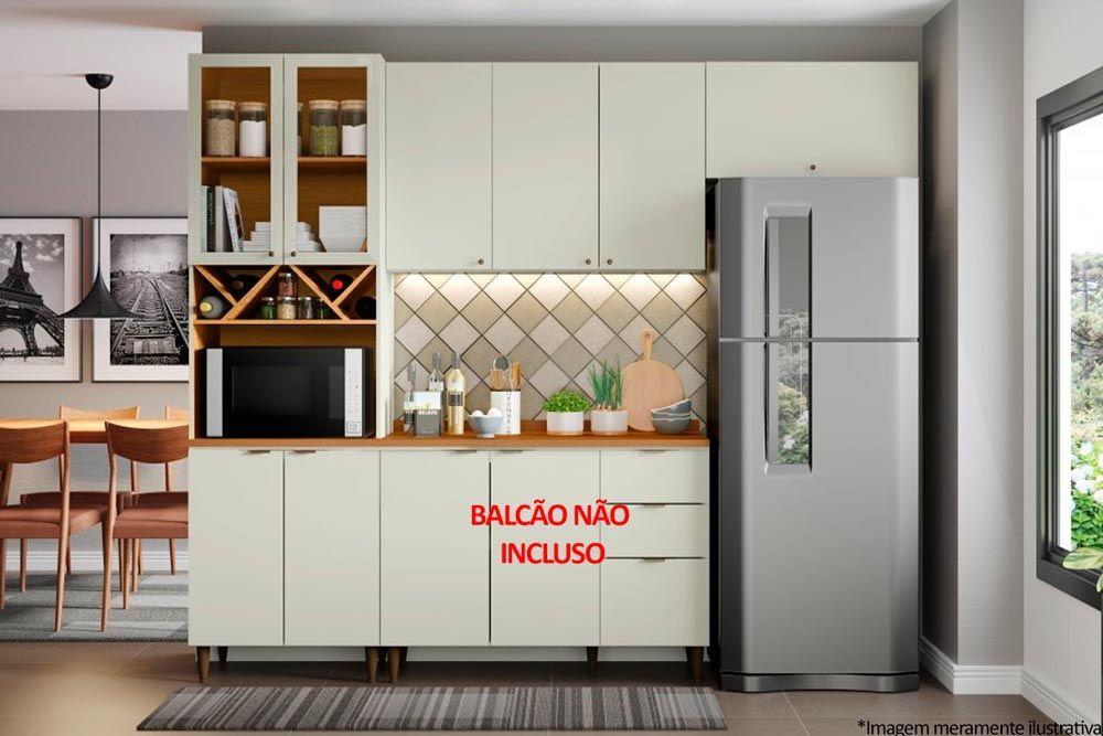 Cozinha Completa Henn Essência 3 Peças (Paneleiro+Aéreo 3 Portas+Aéreo Basculante) CZ205
