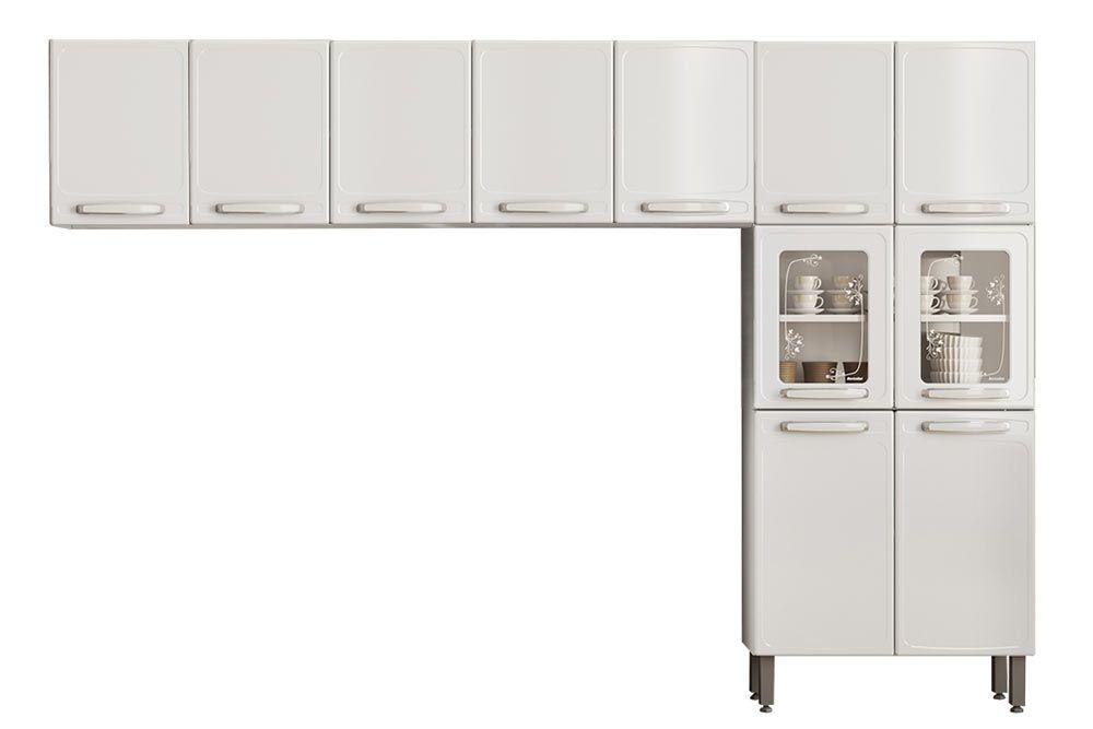 Cozinha Completa Bertolini Evidence Aço 3 Peças (Paneleiro + 2 Aéreos) CZ126