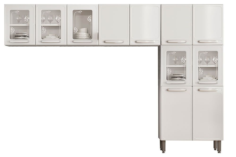 Cozinha Completa Bertolini Evidence Aço 3 Peças (Paneleiro + 2 Aéreos) CZ129