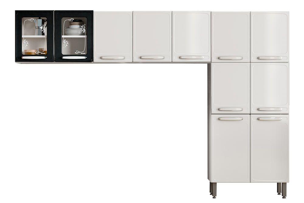 Cozinha Completa Bertolini Evidence Aço 3 Peças (Paneleiro + 2 Aéreos) CZ131