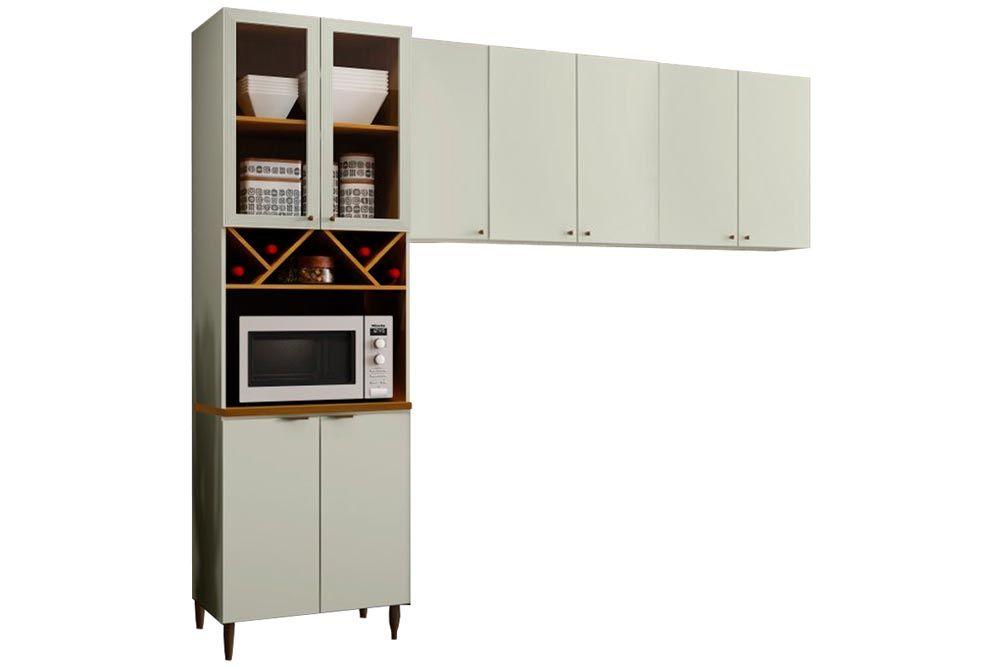 Cozinha Completa Henn Essência 3 Peças (Paneleiro+Aéreo 3 Portas+Aéreo 2 Portas) CZ207