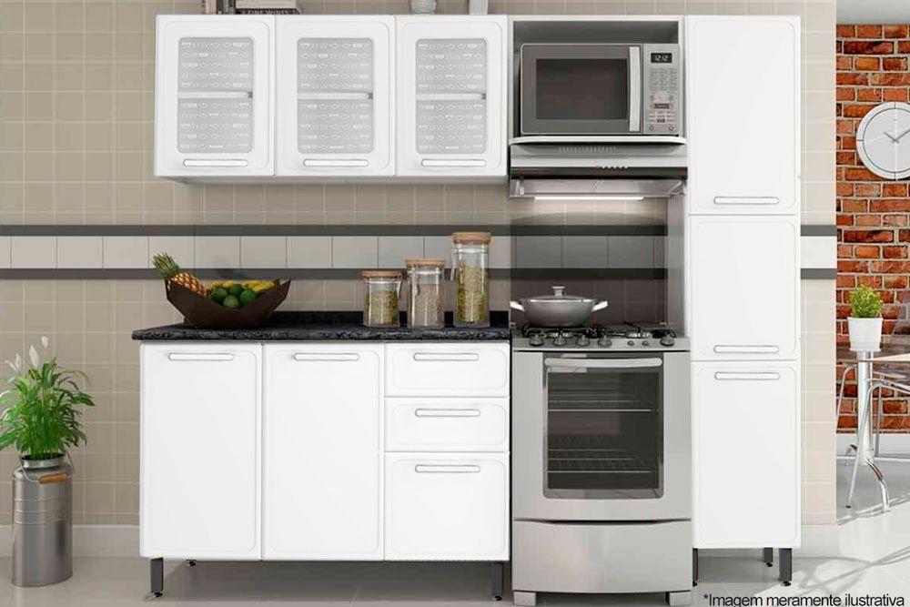 Cozinha Completa Bertolini Gourmet Aço 4 Peças (Paneleiro + 2 Aéres + Gabinete) CZ125