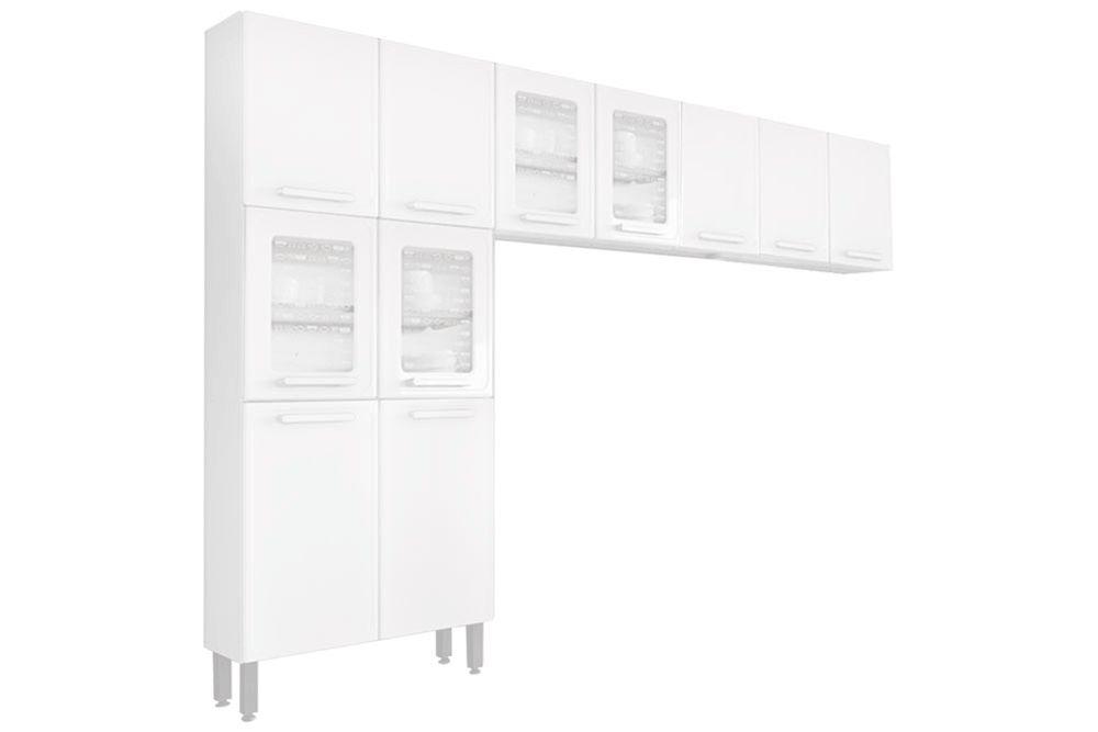 Cozinha Completa Bertolini Gourmet Aço 3 Peças (Paneleiro + 2 Aéreos) CZ127