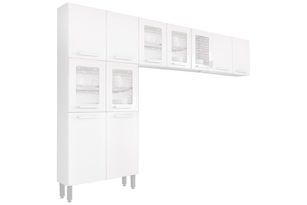 Cozinha Completa Bertolini Gourmet Aço 3 Peças (Paneleiro + 2 Aéreos) CZ128