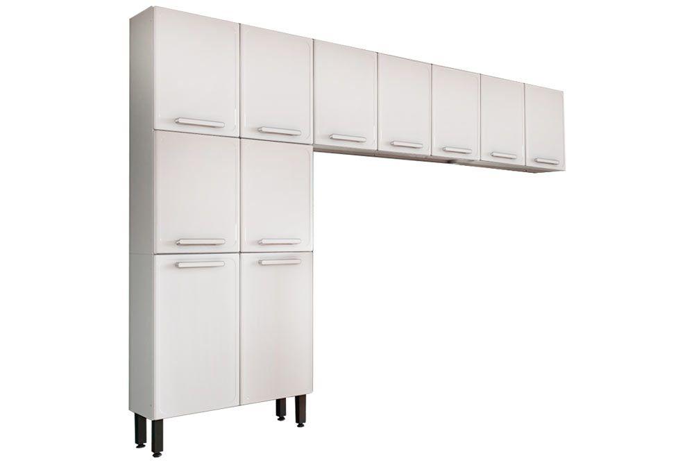 Cozinha Completa Bertolini Gourmet Aço 3 Peças (Paneleiro + 2 Aéreos) CZ130