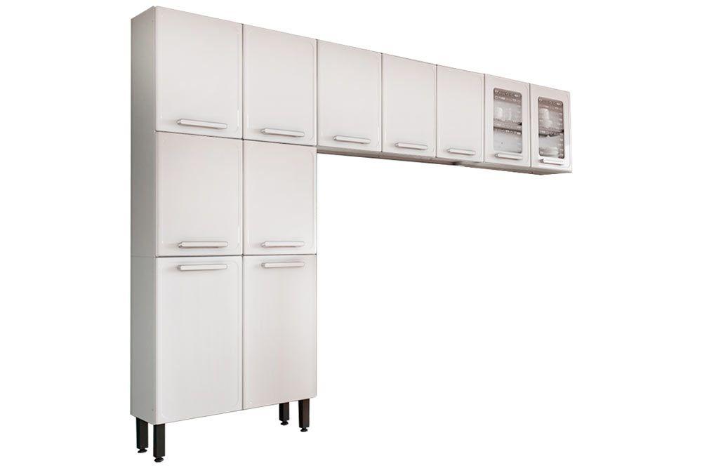 Cozinha Completa Bertolini Gourmet Aço 3 Peças (Paneleiro + 2 Aéreos) CZ131
