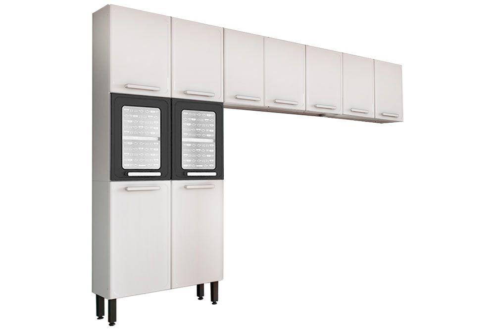Cozinha Completa Bertolini Gourmet Aço 3 Peças (Paneleiro + 2 Aéreos) CZ126