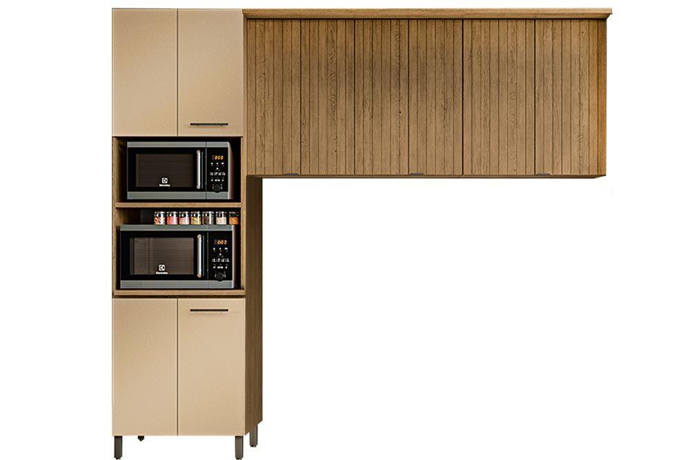 Cozinha Completa Kappesberg Áurea 3 Peças (Paneleiro + 2 Aéreos) CZ183