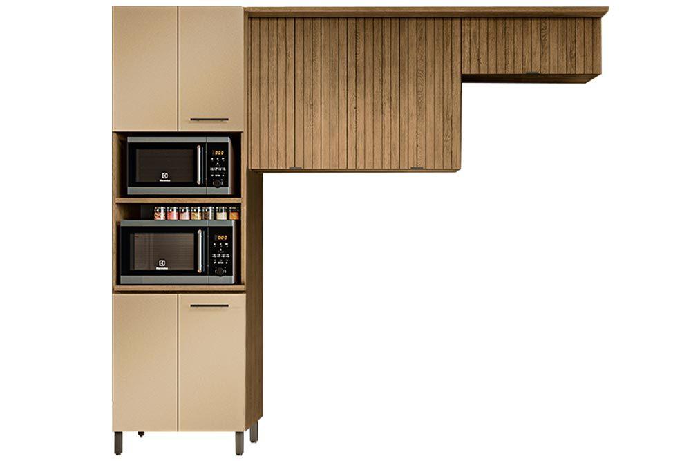 Cozinha Completa Kappesberg Áurea 3 Peças (Paneleiro + 2 Aéreos) CZ185
