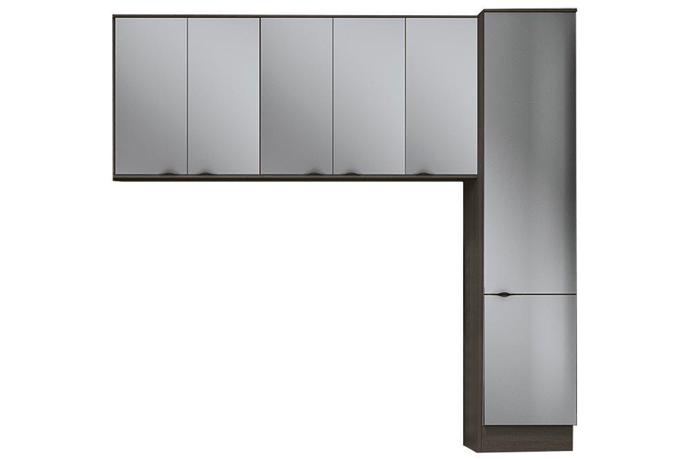 Cozinha Completa Kappesberg Nox 3 Peças (Paneleiro + 2 Aéreos) CZ193