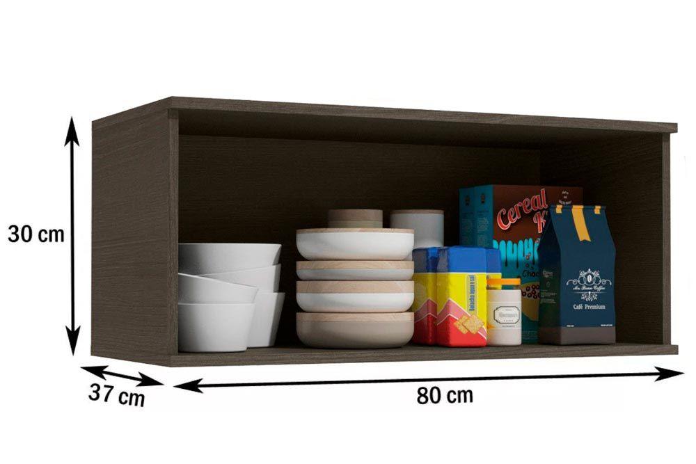 Cozinha Completa Kappesberg Nox 3 Peças (Paneleiro + 2 Aéreos) CZ192