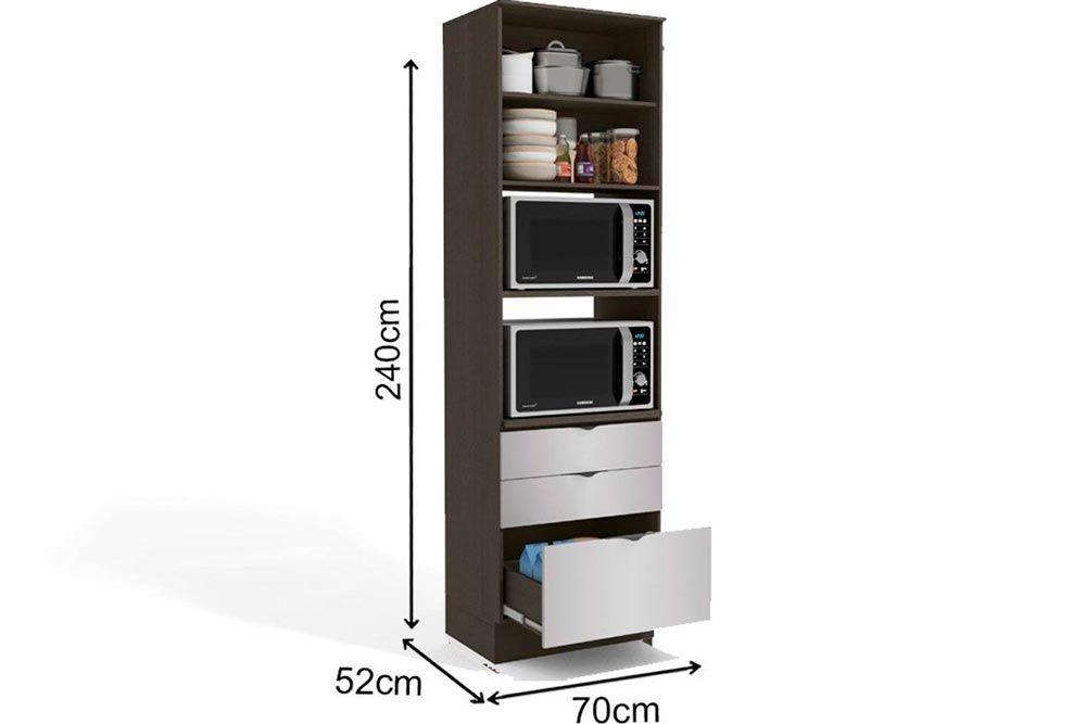 Cozinha Completa Kappesberg Nox 3 Peças (Paneleiro + 2 Aéreos) CZ195