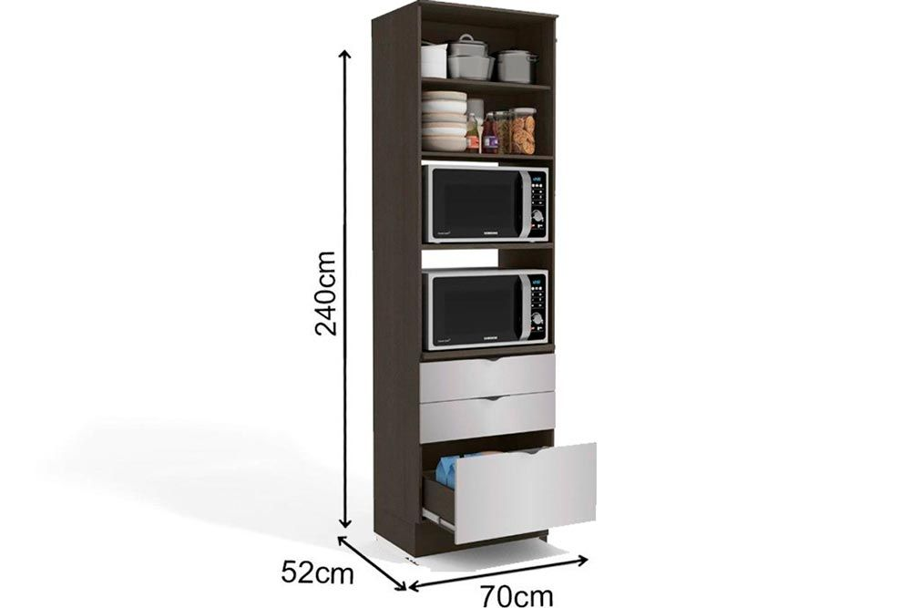 Cozinha Completa Kappesberg Nox 3 Peças (Paneleiro + 2 Aéreos) CZ197