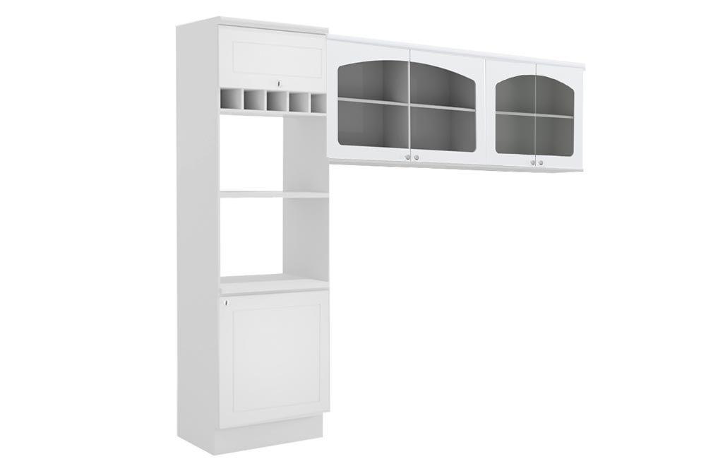 Cozinha Completa Kappesberg Provenzza 3 Peças (Paneleiro + 2 Aéreos) CZ205