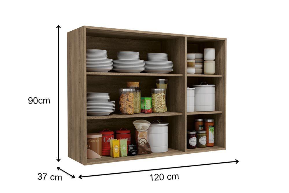 Cozinha Completa Kappesberg Maxxi 3 Peças (Paneleiro + 3 Aéreos) CZ205