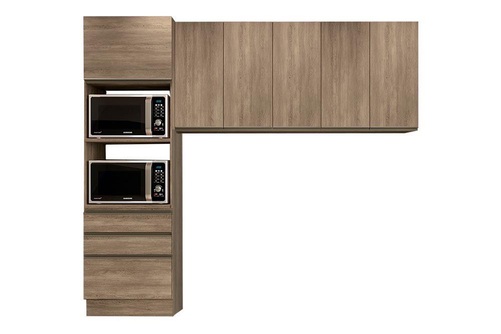 Cozinha Completa Kappesberg Maxxi 3 Peças (Paneleiro + 2 Aéreos) CZ206