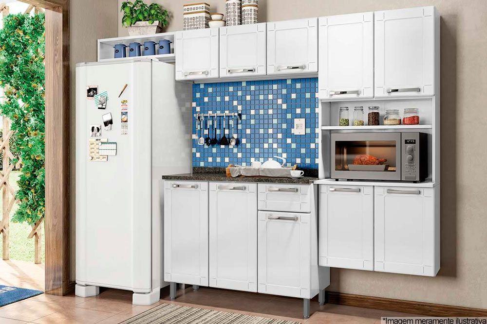 Cozinha Completa Modulada Bertolini Múltipla 4 Peças (Paneleiro Torre Quente+Armário+Gabinete+Nicho) CZ87