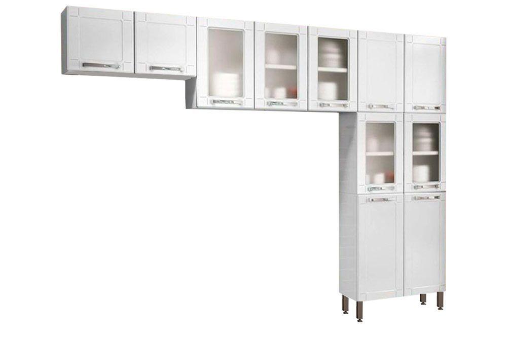 Cozinha Compacta Modulada Bertolini Múltipla 3 Peças (Paneleiro+2 Armários)