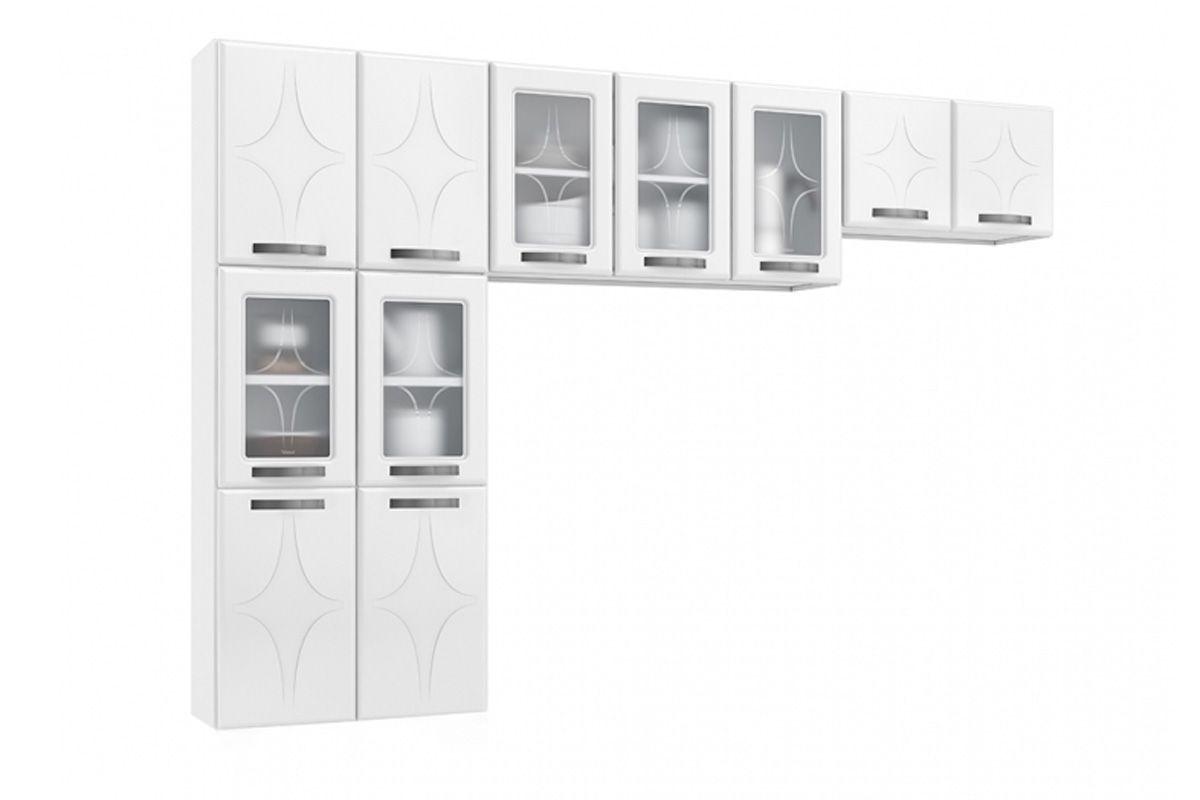 Cozinha Completa Modulada Telasul Rubi de Aço 3 Peças (Paneleiro + 2 Aéreos) COZ222