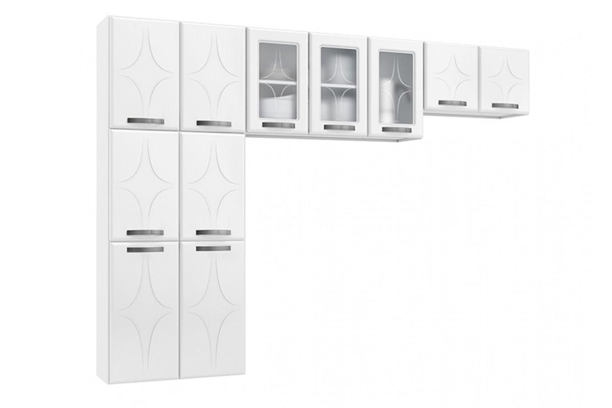 Cozinha Completa Planejada Telasul Rubi de Aço 3 Peças (Paneleiro + 2 Aéreos) COZ223