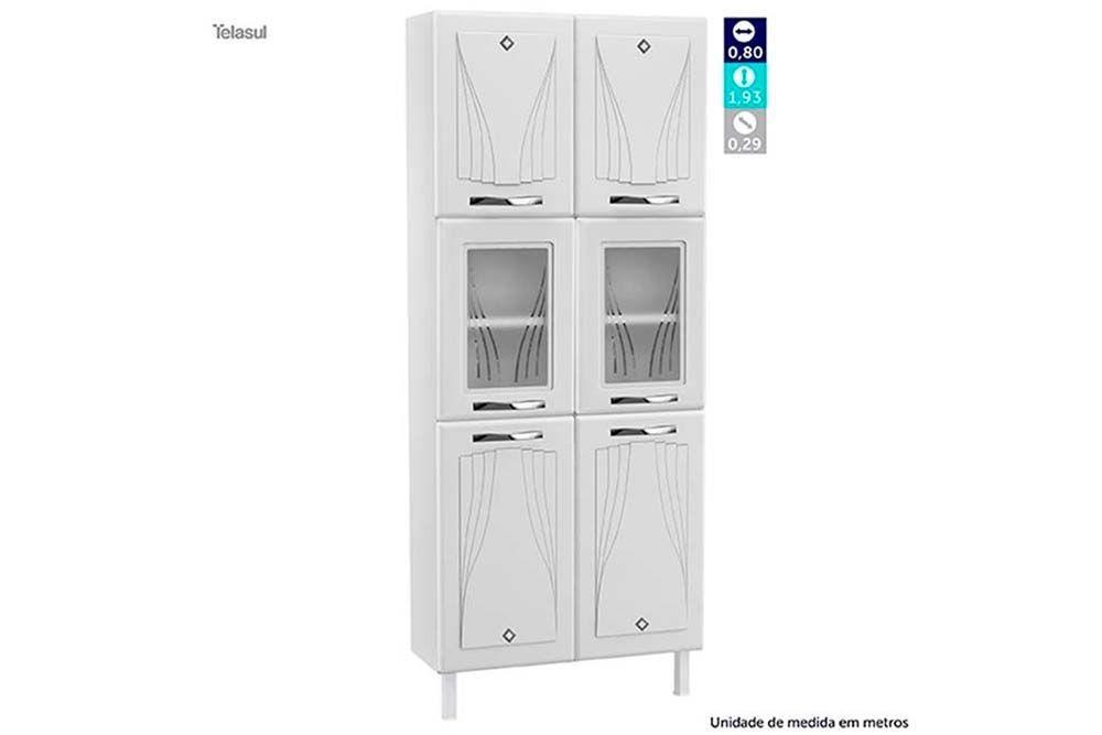 Cozinha Modulada Telasul Star New Aço 4 Peças (Paneleiro + Gabinete + 2 Aéreos) CZ225