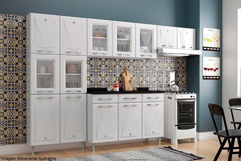 Cozinha Modulada Telasul Star Aço 4 Peças (Paneleiro + 2 Armários + Gabinete) COZ229