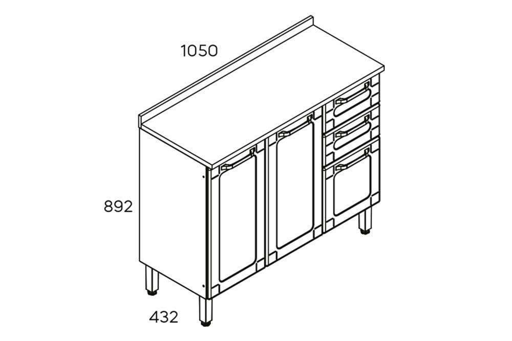 Cozinha Completa Modulada Bertolini Colors 4 Peças (Paneleiro+2 Armários+Gabinete)