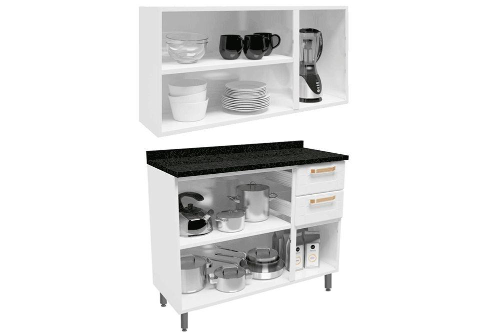 Cozinha Compacta Modulada Bertolini Colors 2 Peças (Armário+Gabinete)
