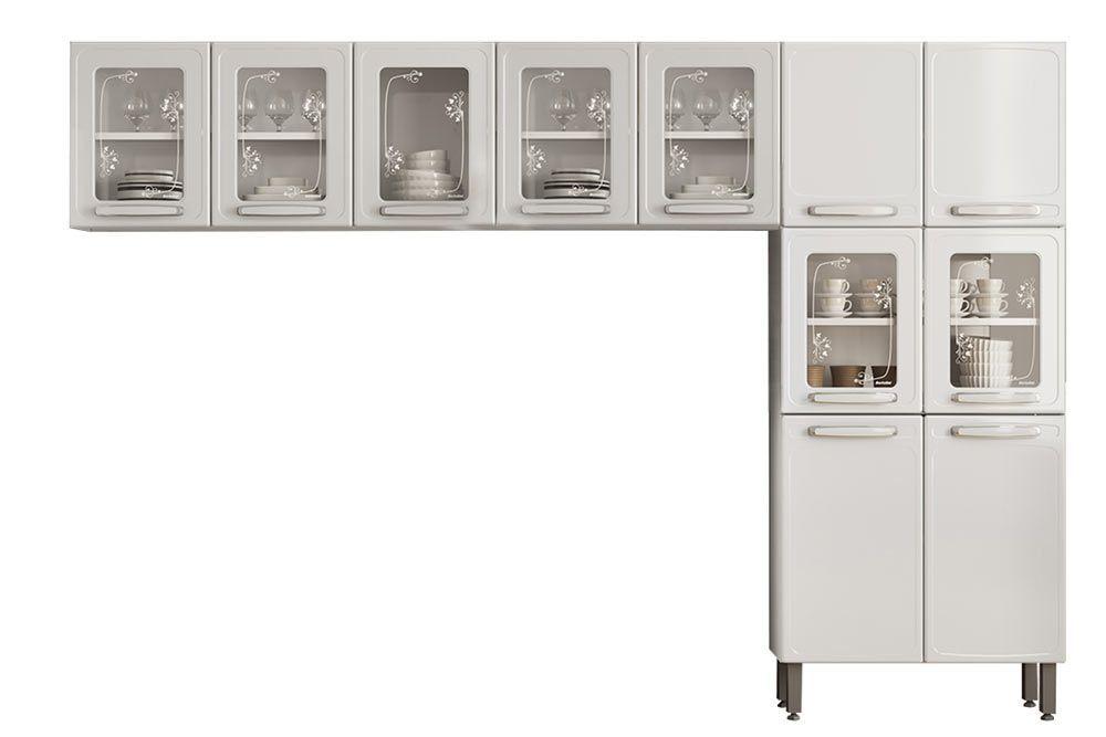 Cozinha Completa Compacta Bertolini Evidence 3 Peças (Paneleiro+2 Armários)