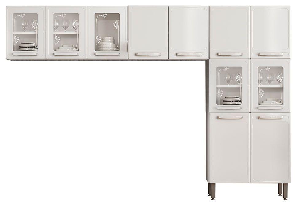 Cozinha Completa Modulada Bertolini Evidence 3 Peças (Paneleiro + 2 Armários)