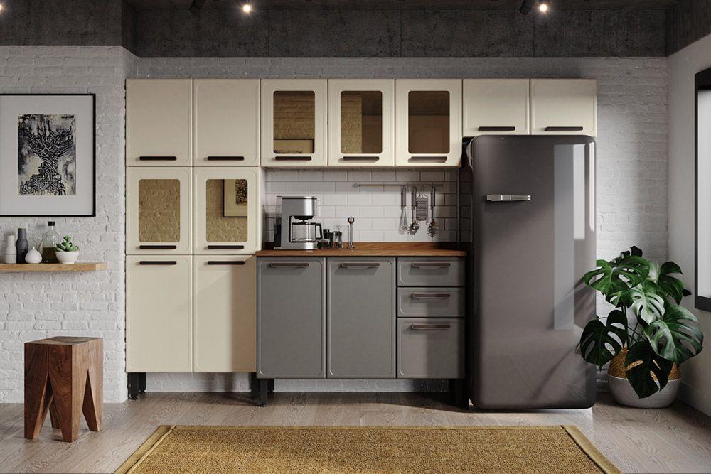 Cozinha Completa Modulada Bertolini Origens 4 Peças (Paneleiro+2 Armários+Gabinete)