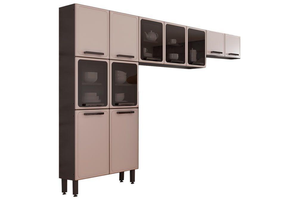 Cozinha Completa Compacta Bertolini Estilo 3 Peças (Paneleiro+2 Armários)